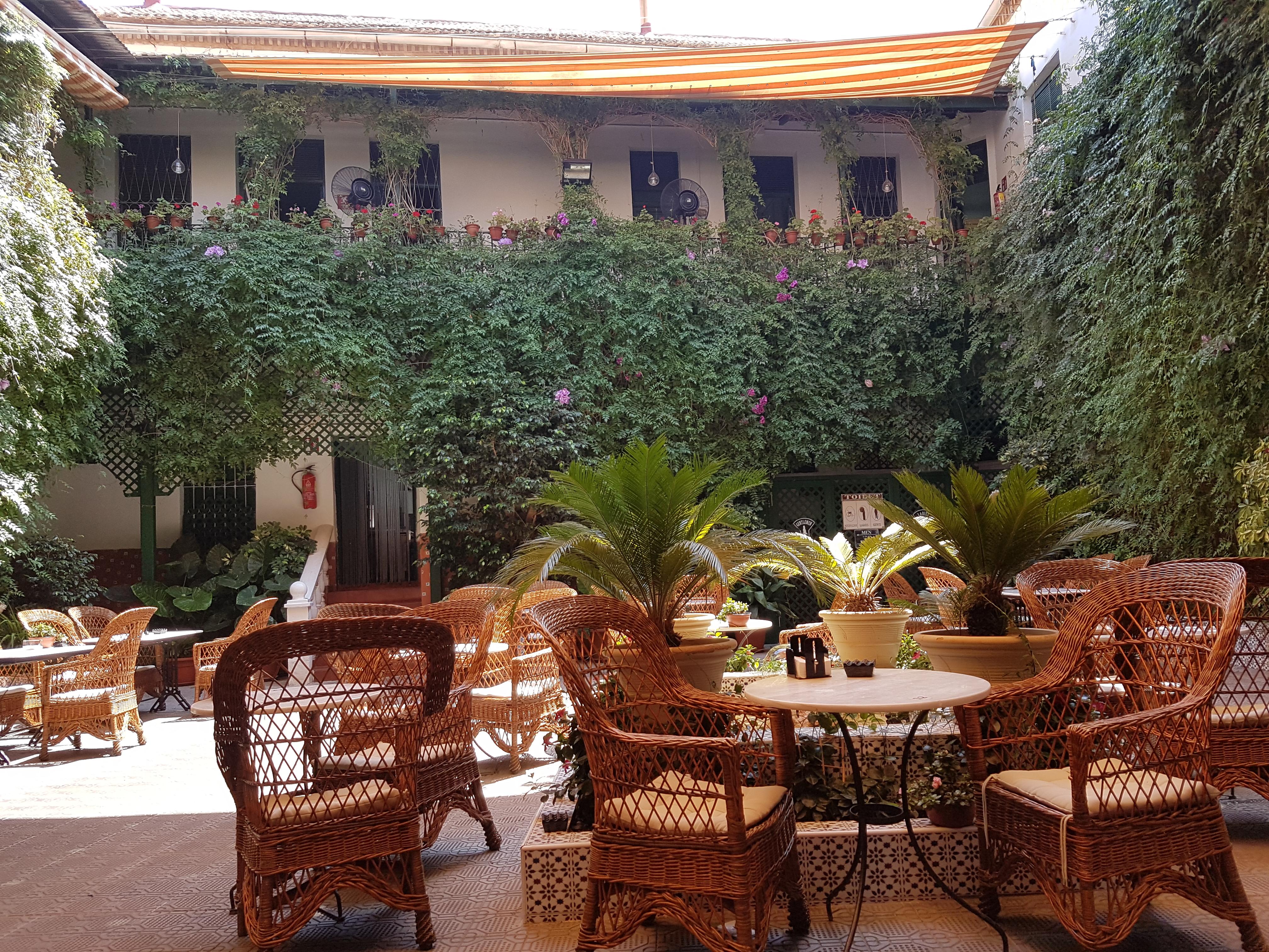 La Encarnacion courtyard