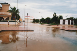 Flooding in C Isla de Tabarca