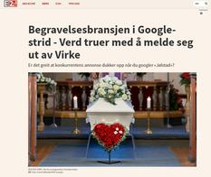 Begravelsesbransjen i Google-strid