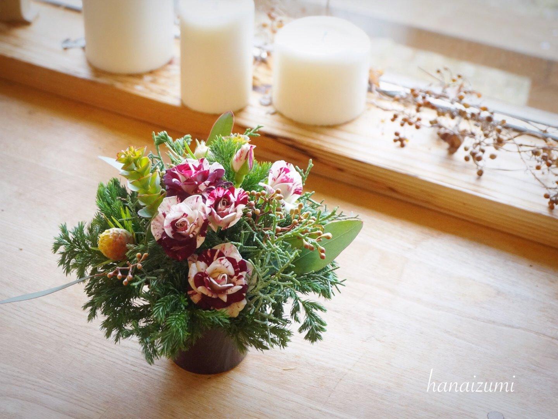 クリスマス・テーブルのお花