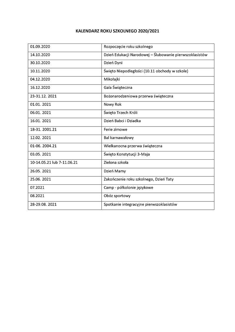 kalendarz Edujoy 2020/21