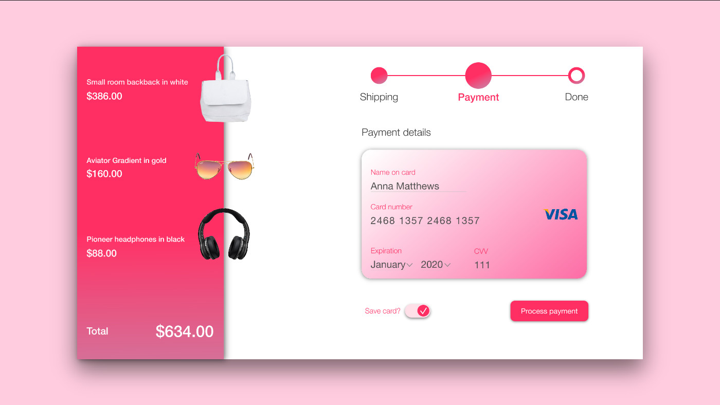 File Check Out Card daily ui 002: credit card checkout