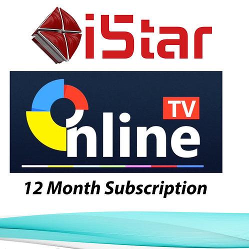 Online Tv, 12 Month Subscription