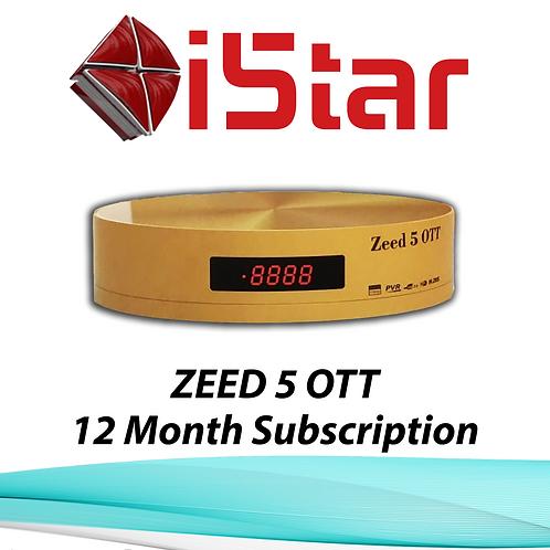 ZEED 5 OTT, 12 Month Subscription