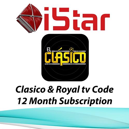 El-Clasico & Royal Tv code, 12 Month Subscription