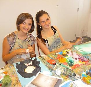 les cours de peinture pour ados à martigues avec annabella veracruz