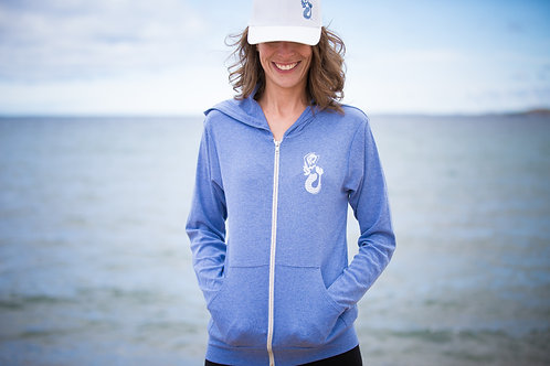 Mermaids of Michigan Triblend Lightweight Hooded Full-Zip