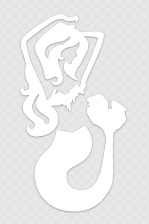 "Mermaids of Michigan Transfer Sticker 2.15"" x 4"""
