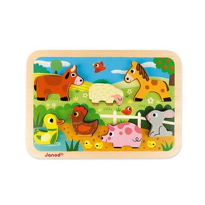 Janod Farm Wooden Puzzle