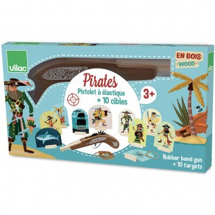 Vilac Pirate Rubber Band Gun With Targets