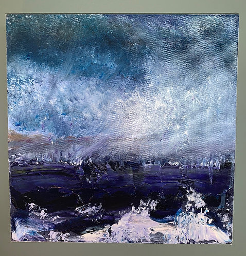 'Sea Storm' - Original artwork by Laura J Brown