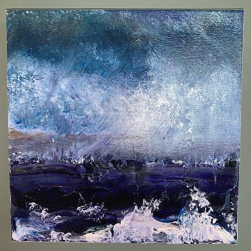 'Sea Storm' - Original artwork by Laura J Brown