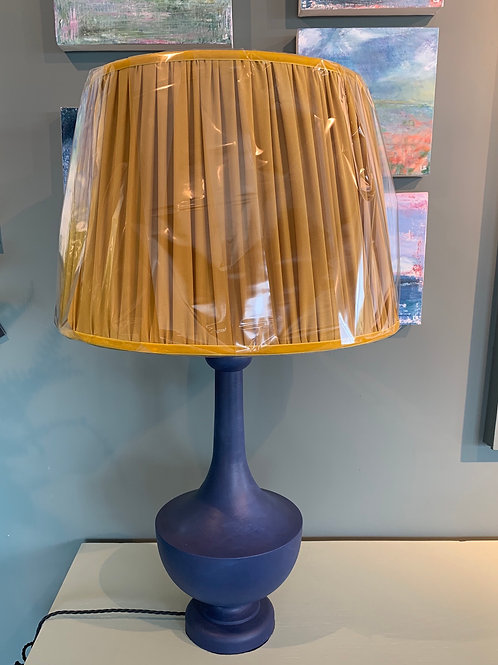 Hand turned wooden lamp base - any colour
