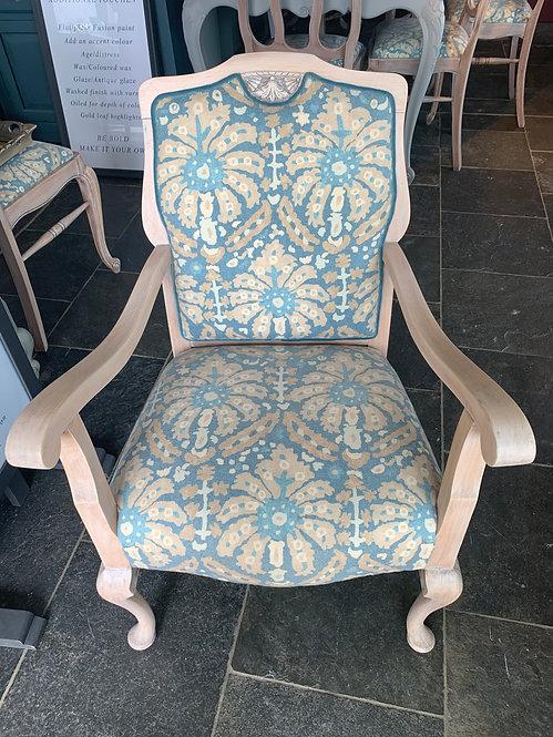 Occasional oak armchair