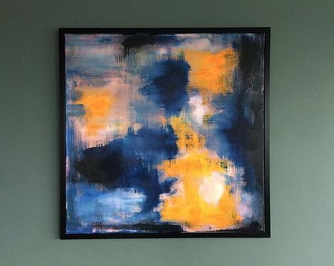 'PInk Blue' - Original artwork by Laura J Brown