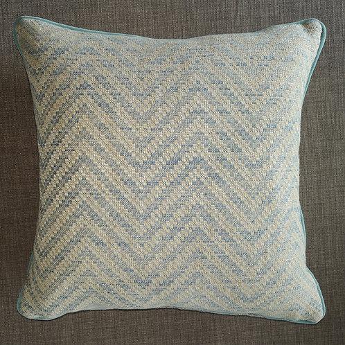 Pale Blue Geometric Cushion