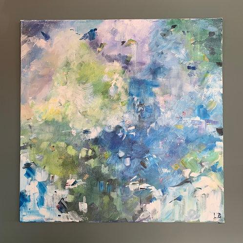 'Lilac Blossom' - Original artwork by Laura J Brown