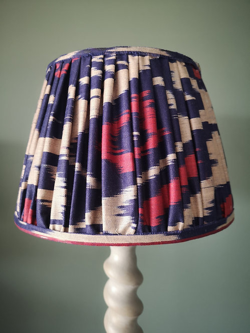 Blue and Red Handmade Lampshade