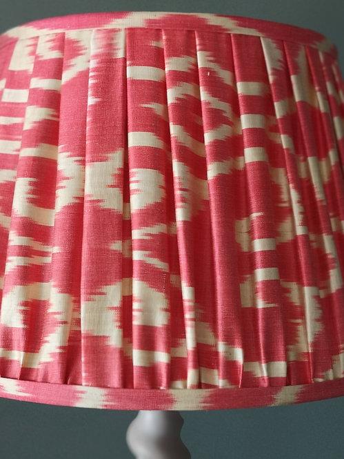 Red and Cream Handmade Lampshade