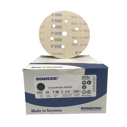 P800 - Starcke 150mm Gold Velcro Sanding Discs (Box of 100)