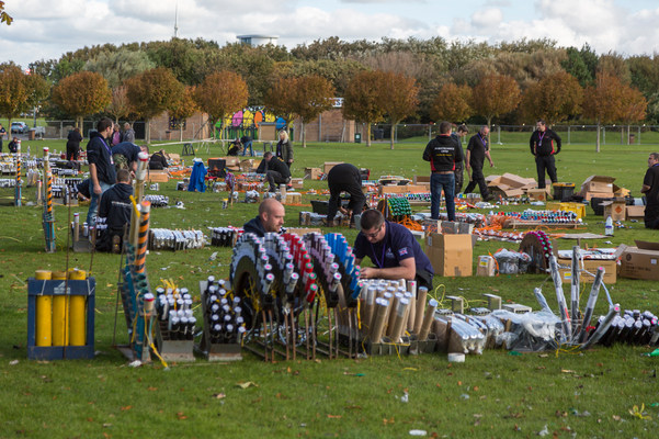 Competition Firework Display Setup