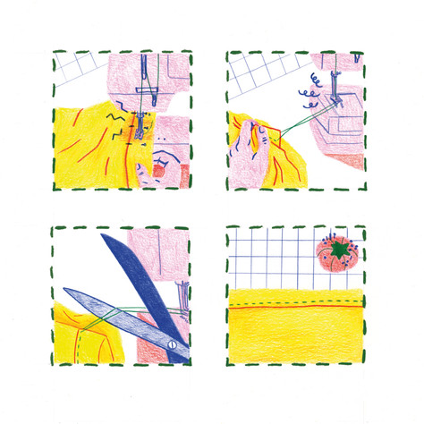 Sewing comic, 2 of 2