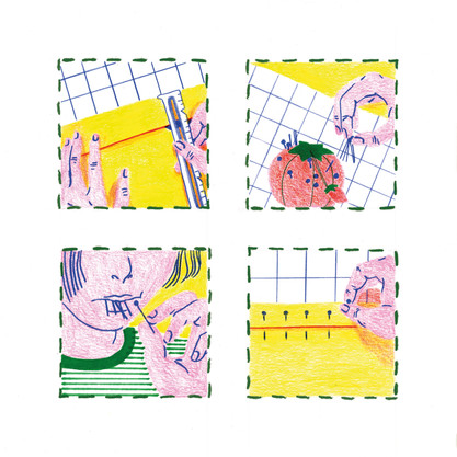 Sewing comic, 1 of 2