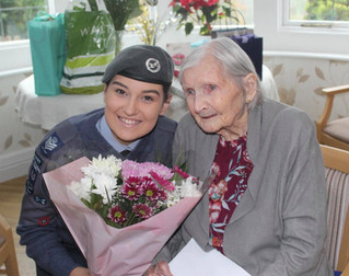 RAF AND KEIGHLEY CELEBRATE 100th BIRTHDAY OF AN AMAZING LADY.