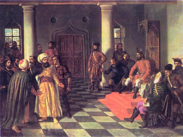 Османский Паша на приеме у Влада
