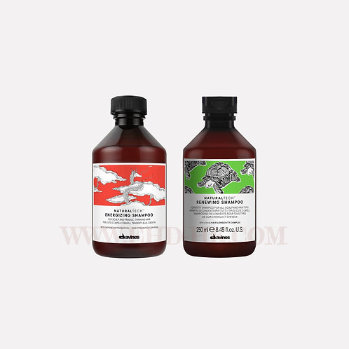 Davines Naturaltect Set - Energizing Shampoo 250ml & Renewing Shampoo 250ml | Davines (達芬妮斯) Naturaltech套裝 - Energizing防脫髮洗頭水