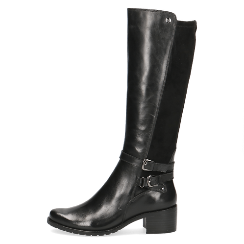 Caprice black leather tall boot
