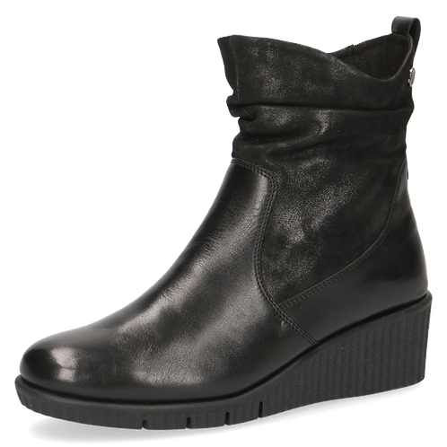 Caprice black wedge ankle boot