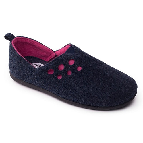 Padders Navy and Pink Riva Slippers
