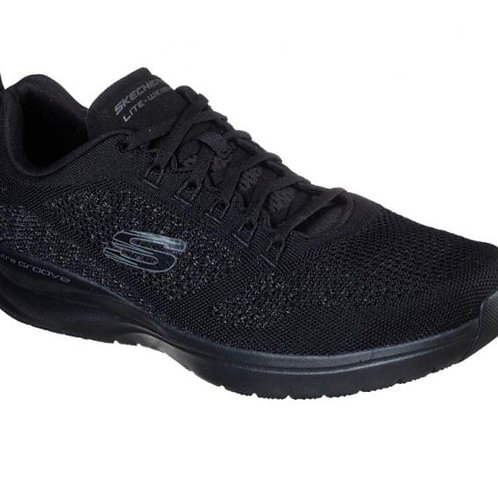 Skechers Mens Light Weight lace up all black