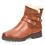 Thumbnail: Caprice tan warmlined ankle boot