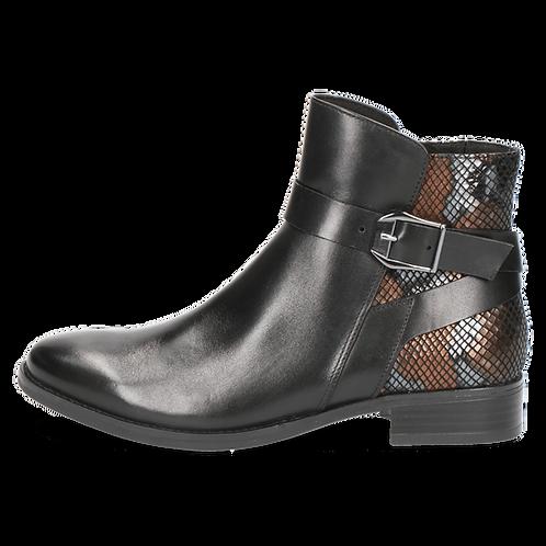 Caprice Black snake boot