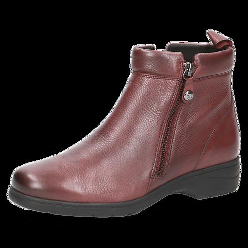 Caprice bordeaux leather wider fit