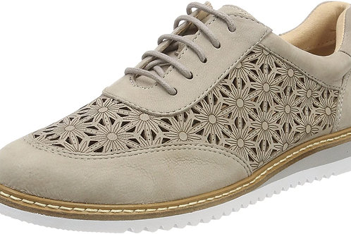 Caprice Ladies Oxford Grey Nubuc