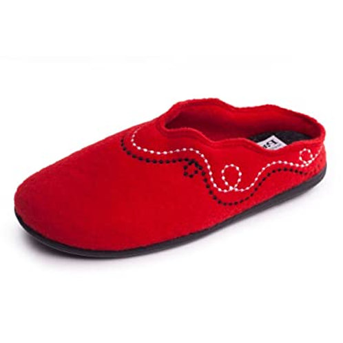 Padders Backless Red Slippers
