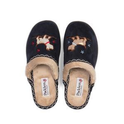 Padders Scotty Dog Backless Slippers