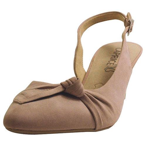 Caprice Ladies Nubuck Leather Sling Back Shoe