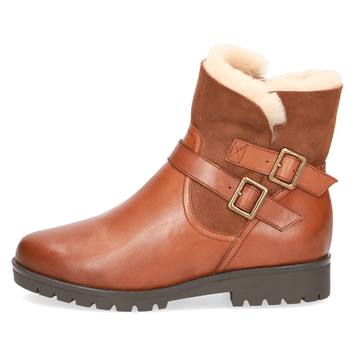 Caprice tan warmlined ankle boot