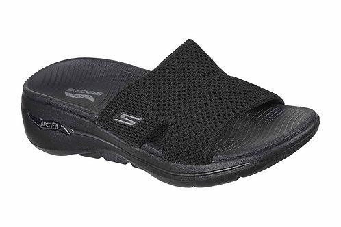 Skechers Archfit Ladies Black Slip on