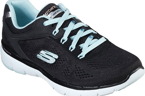 Skechers Moving Fast Black and Turquoise