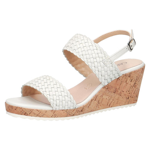 Caprice white pearl leather sandal