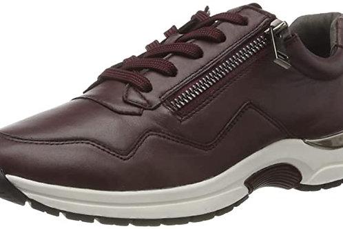 Caprice soft leather bordeaux trainer
