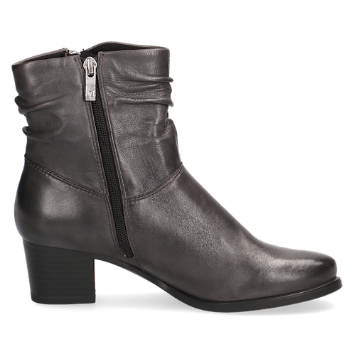 Caprice dark grey soft leather boot