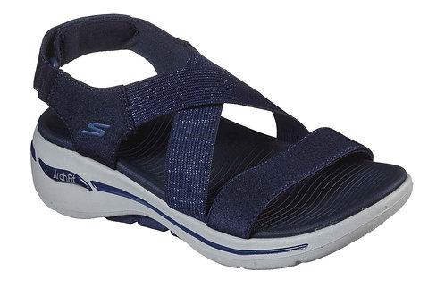 Skechers Archfit Ladies Elastic & Velcro Sandal