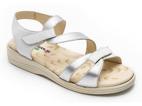 Padders Sunseek White/ Silver Sandal