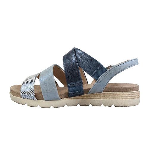 Caprice blue comb sandal